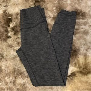 Lululemon leggings, gray heather, 7/8ths